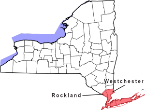 Rockland & Westchester counties lie within the NYC metro.
