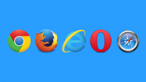Modern internet browser logos